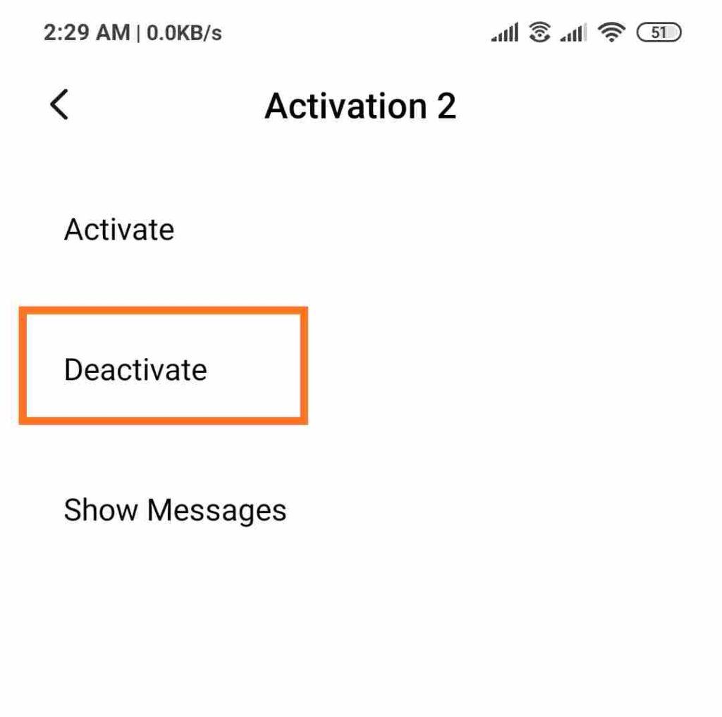 activate deactivate flash message